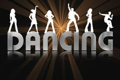Dancing Background Royalty Free Stock Photo