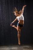 Dancing bagnato Fotografie Stock Libere da Diritti