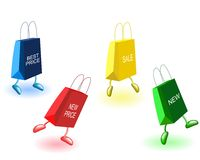Dancing bags Stock Photography