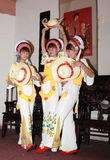 Dancing Bai Girls. The Bai or Baip are one of the 56 ethnic groups officially recognized by the People's Republic of China Royalty Free Stock Photos