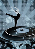Dancing Balerina on vinyl Royalty Free Stock Photo