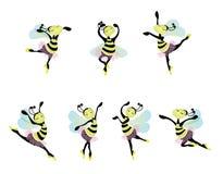 Dancing ballerina bees Stock Image