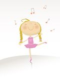 Dancing ballerina serie Royalty Free Stock Photography