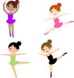 Dancing ballerina series Royalty Free Stock Images