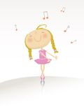 Dancing ballerina series Royalty Free Stock Photo