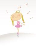 Dancing ballerina series Royalty Free Stock Photo