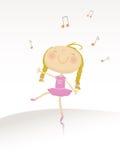 Dancing ballerina series vector illustration