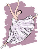 Dancing ballerina Royalty Free Stock Photo
