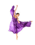 Dancing ballerina in violet Royalty Free Stock Photo