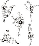 Dancing ballerinas stock illustration