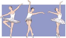 Dancing ballerinas. Vector drawing of the graceful dancers Stock Images