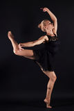 Dancing ballet girl.beauty young gymnast woman Royalty Free Stock Photos