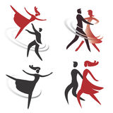 Dancing_ballet_icons 免版税库存图片