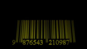 Dancing barcode equalizer stock video