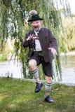 Dancing bavarese dell'uomo Fotografia Stock Libera da Diritti
