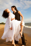 Dancing on the beach Royalty Free Stock Photo