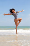 Dancing on the beach Royalty Free Stock Photography