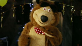 Dancing Bear On Childs Birthday stock video footage