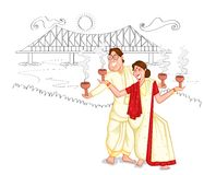 Dancing Bengali couple Stock Photo