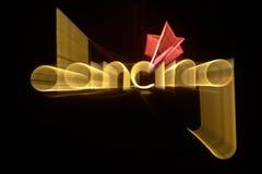 Dancing blinking banner Stock Image