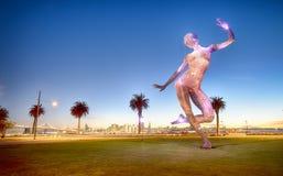 Dancing Bliss Illuminated. Treasure Island San Francisco Stock Image