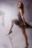 Dancing blond girl Royalty Free Stock Images