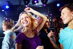 Dancing blonde Royalty Free Stock Photography