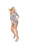 Dancing blonde Royalty Free Stock Photo