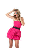Dancing blonde girl Royalty Free Stock Photography