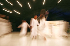Dancing  blur. Sufi dervish dance and whirling meditation, india Royalty Free Stock Photography
