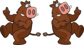 Dancing Boar Stock Photos