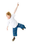 The dancing boy. On a white background royalty free stock photography