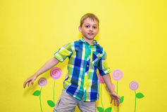 Dancing boy Stock Images