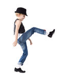 Dancing boy isolated on white Stock Images