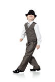 Dancing boy isolated on white Stock Image