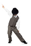 Dancing boy isolated on white Royalty Free Stock Photo
