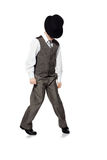 Dancing boy isolated on white Royalty Free Stock Image