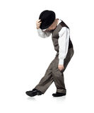 Dancing boy isolated on white Royalty Free Stock Photos