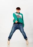 Dancing boy in studio Stock Photo