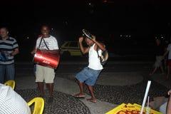 Dancing In Brazil. Having fun in Brazil Dancing with a tambourine Stock Image