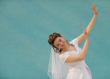 The dancing bride Stock Image