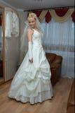 Dancing bride. Beautiful bride is dancing  before the  wedding ceremonial Royalty Free Stock Images
