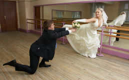 Dancing bride Stock Photography