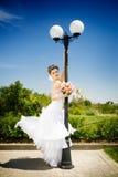 Dancing bride Stock Photos