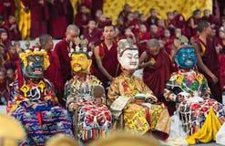 Dancing buddhists lamas Royalty Free Stock Photo