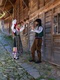 Dancing bulgaro di folclore Fotografia Stock Libera da Diritti