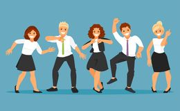 Dancing business people vector Royalty Free Stock Image