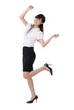 Dancing business woman Stock Image