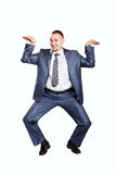 Dancing businessman Stock Image