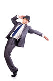 Dancing businessman Stock Photo